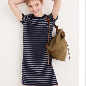 NEW Madewell Striped Navy Oversized T-Shirt Dress